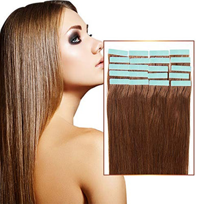 60 Pieces Hair Extension Tape Tabs Double Sided Hair Extension Tapes for Tape In Hair Extensions/Weft Replacement 4 x 0.8cm