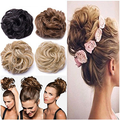 45g Real Thick Hair Buns Premium Quality Undo Scrunchy Scrunchies Hair Extensions Women Ladies Chignon