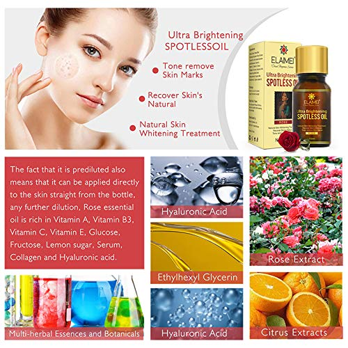 Natural Ultra Brightening Spotless Oil Scar Removal, Dark Spots Removal, Age Dark Spots, Hyper-Pigmentation, Rosacea, Freckles, Acne-Related Brown Spots and Skin Marks