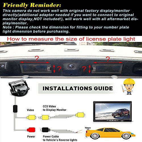 Misayaee Reversing Vehicle-Specific Camera Integrated in Number Plate Light License Rear View Backup camera for Audi A3 S3 A4 S4 A6 S6 RS6 A8 RS4 TT 8N Q7