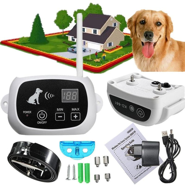 Wireless Dog Fence With Collar (1/2/3 Dogs System)