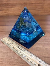Load image into Gallery viewer, Large Lapis(3) Orgonite EMF Protection/Chakra Healing Pyramid