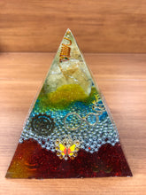 Load image into Gallery viewer, Large Citrine Orgonite EMF Protection/Chakra Healing Pyramid