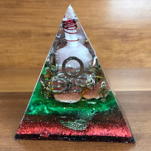 Load image into Gallery viewer, Medium Black Tourmaline Orgonite EMF Protection/Chakra Healing Pyramid