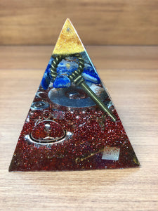 Mini Lapis Lazuli Orgonite EMF Protection/Chakra Healing Pyramid