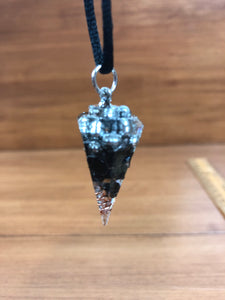 Black tourmaline Orgonite EMF Protection/Chakra Healing Pendulum