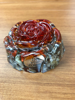 Red Jasper Orgonite EMF Protection/Chakra healing Rose
