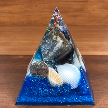 Load image into Gallery viewer, Large Lapis Orgonite EMF Protection/Chakra Healing Pyramid