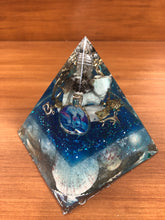 Load image into Gallery viewer, Large Amazonite Orgonite EMF Protection/Chakra Healing Pyramid