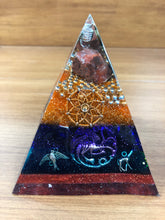 Load image into Gallery viewer, **SPECIAL** Carnelian Orgonite EMF Protection/Chakra Healing Pyramid