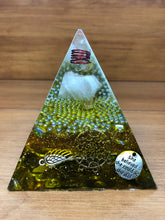 Load image into Gallery viewer, Large Rose Quartz Orgonite EMF Protection/Chakra Healing Pyramid