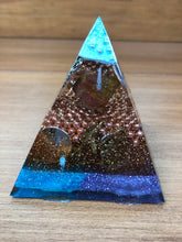 Load image into Gallery viewer, Mini Carnelian Orgonite EMF Protection/Chakra Healing Pyramid