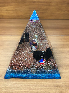 Large Shungite Orgonite EMF Protection/Chakra Healing Pyramid