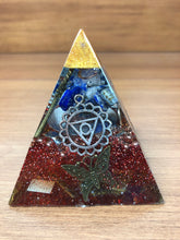 Load image into Gallery viewer, Mini Lapis Lazuli Orgonite EMF Protection/Chakra Healing Pyramid