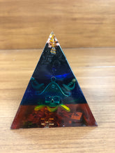 Load image into Gallery viewer, Mini Shungite Orgonite EMF Protection/Chakra Healing Pyramid