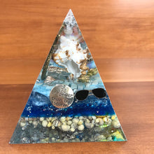 Load image into Gallery viewer, **SPECIAL** Amazonite Orgonite EMF Protection/Chakra Healing Pyramid