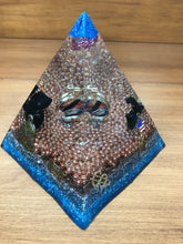 Load image into Gallery viewer, Large Shungite Orgonite EMF Protection/Chakra Healing Pyramid