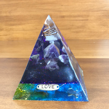 Load image into Gallery viewer, Large Amethyst Orgonite EMF Protection/Chakra Healing Pyramid