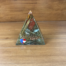 Load image into Gallery viewer, Mini Red Jasper Orgonite EMF Protection/Chakra Healing Pyramid