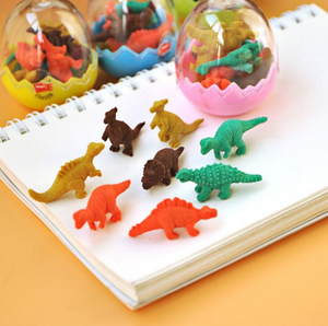 Mini Dinosaur Erasers in an Egg