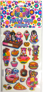Lisa Frank Puffy Gem Stickers Icecream