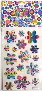 Lisa Frank Puffy Gem Stickers Funky Flowers