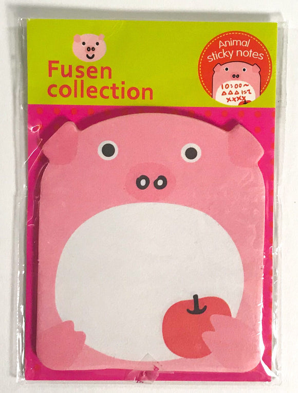 Animal Sticky Notes Pig