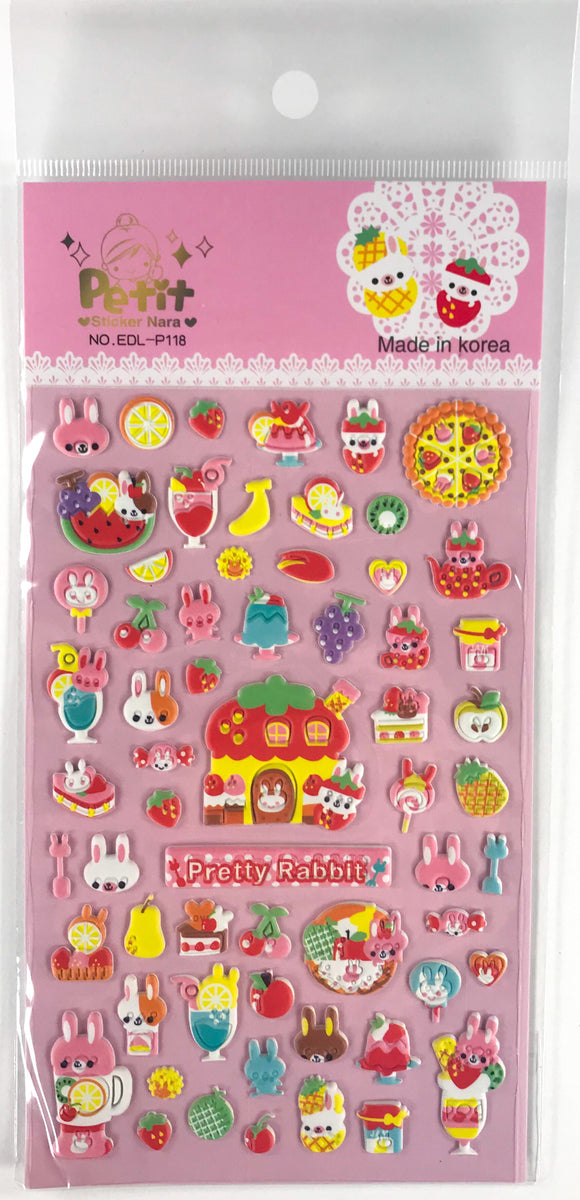 Puffy Pretty Rabbit Stickers