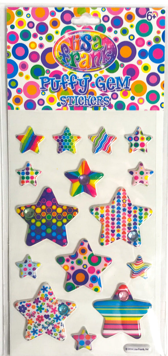 Lisa Frank Puffy Gem Stickers Funky Stars