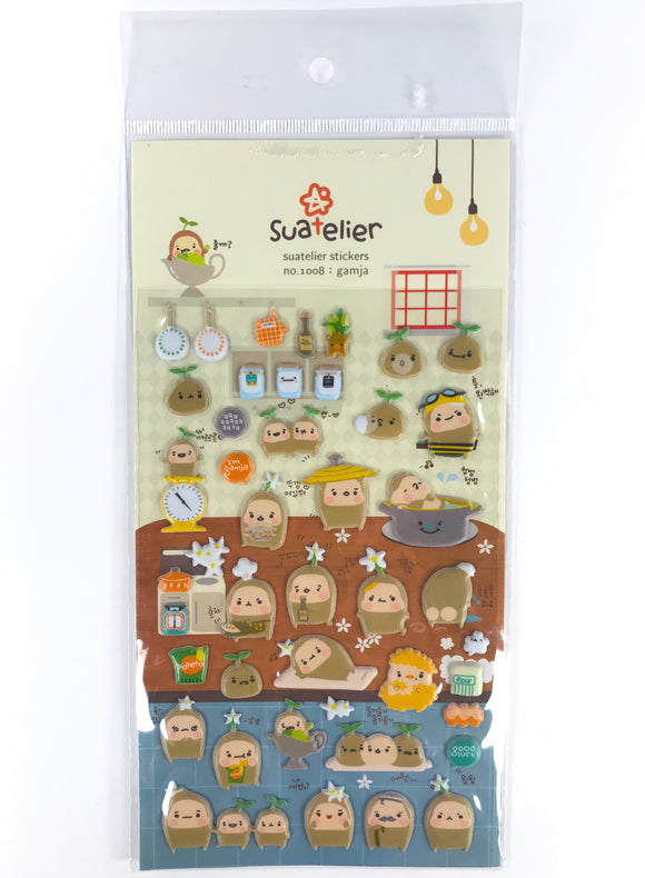 Cute Puffy Potato Stickers