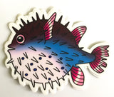 Puffer Fish Sticker by Stephanie Gobby