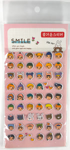 Puffy Smile Face Stickers