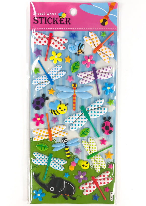 Insect World Puffy Stickers Dragonfly