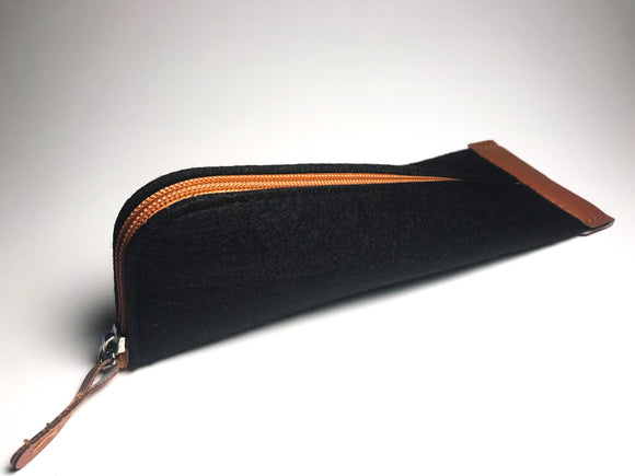 Black Felt Pencil Case