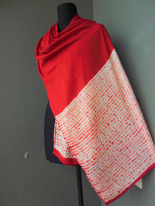 Madder root  -  Cotton Shibori Stoles (22 inches by 80 inches)