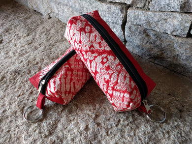 Silk Shibori Pouch with zipper