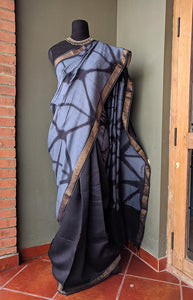 Executive Elegance - Tussar silk Shibori saree