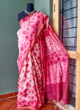 Load image into Gallery viewer, Cherry Blossoms - Tussar silk Shibori saree