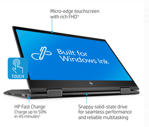 "HP ENVY X360 15 CN1073WM | INTEL CORE i7(8TH GEN) | 8GB RAM | 512GB SSD | 15.6"" TOUCHSCREEN 