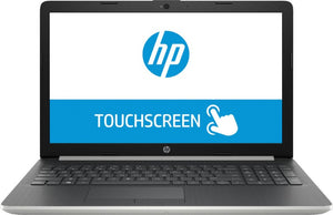 HP 15-DA0014DX | INTEL CORE i7(8GEN) | 8GB RAM | 1TB HDD | DVD RW | 15.6 DISPLAY | TOUCH SCREEN | WIN 10 | SILVER