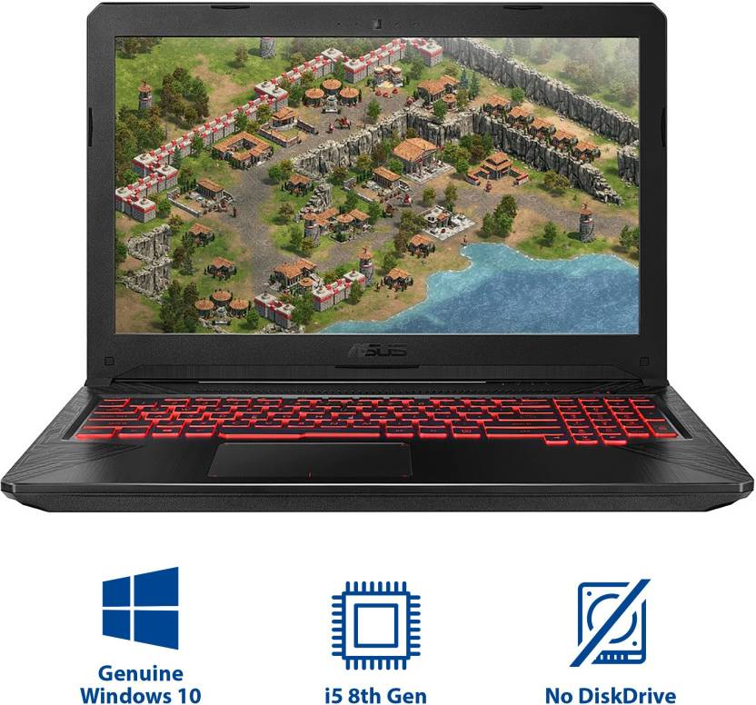 ASUS TUF FX 504GE-E4366T | GAMING LAPTOP | INTEL CORE i5(8TH GEN) | 8GB RAM | 1TB HDD+128GB SSD | 4GB NVIDIA GEFORCE 1050 | 15.6