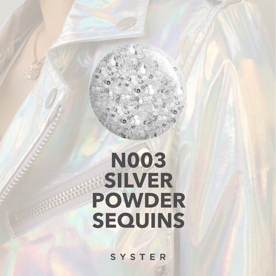 N003 / SILVER POWDER SEQUINS