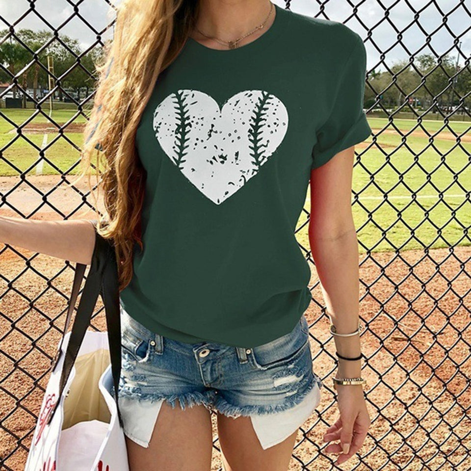 Sports Heart Ladies T-Shirt