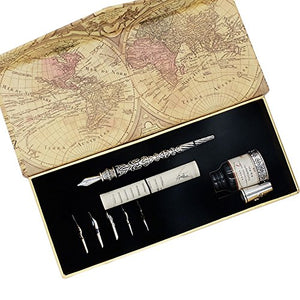 Calligraphy Dip Pen with 6 Calligraphy Nibs & Ink Bottle - GCLL020
