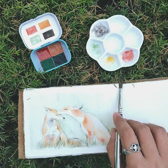Handmade Watercolor Woodland Set