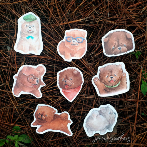 Chowchow Stickers