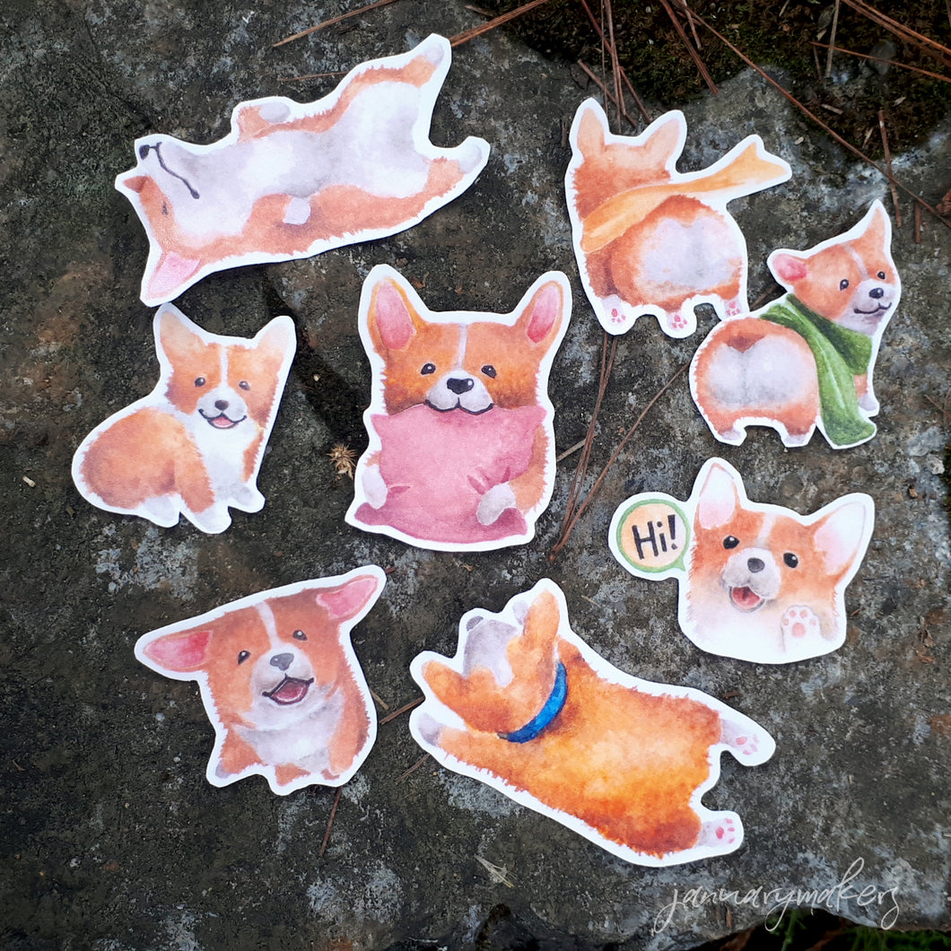 Corgi Sticker Set 1