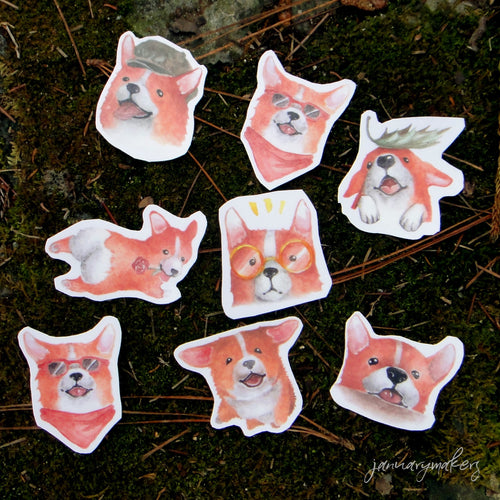 Corgi Sticker Set 2
