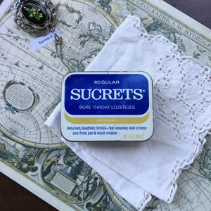 Vintage Sucrets Lozenges Tin Travel Palette