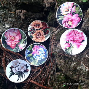 Flower Circle Stickers